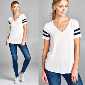 SKYE Short Sleeve Top - WHITE